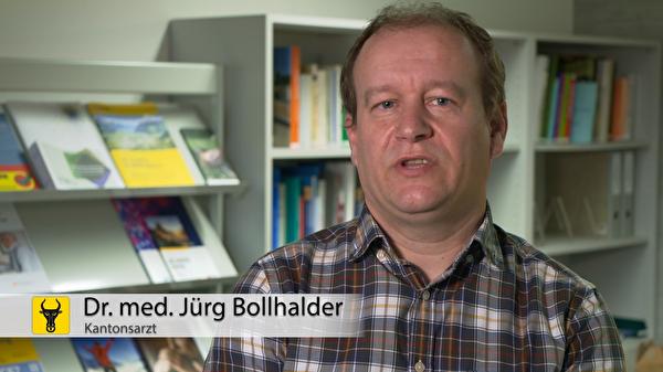 Kantonsarzt Dr. med. Jürg Bollhalder: «Die Situationn ist nicht angenehm - für uns alle nicht. Ma-chen wir das Beste daraus».(Screenshot: Focuspictures)