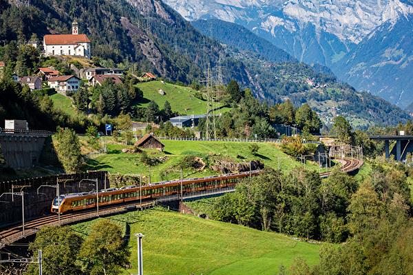 Treno Gottardo bei Wassen (Bildrechte SOB)