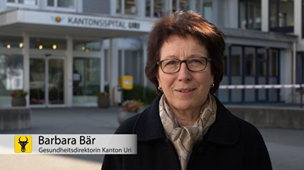 Barbara Bär: «Das oberste Ziel ist, dass wir weitere Ansteckungen vermeiden können.» (Screenshot: Focuspictures)