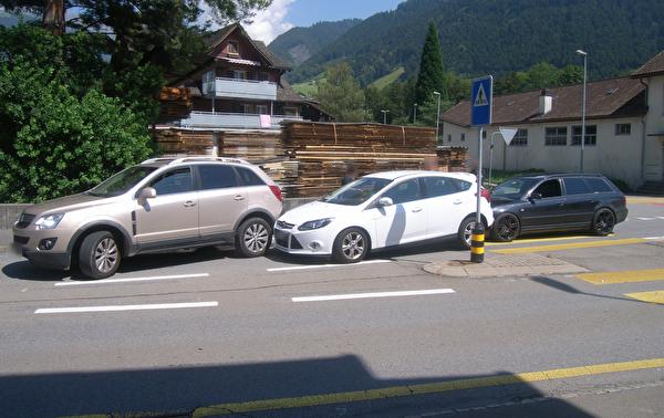 VU mit drei Autos - niemand verletzt
