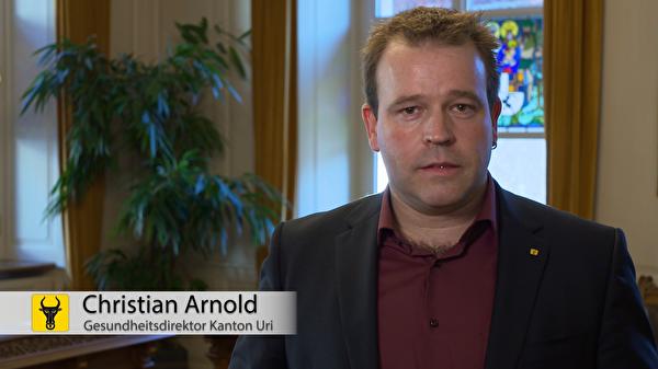 Christian Arnold: «Wir müssen gemeinsam verhindern, dass das Gesundheitspersonal noch mehr an die Grenzen stösst». (Screenshot: Focuspictures)