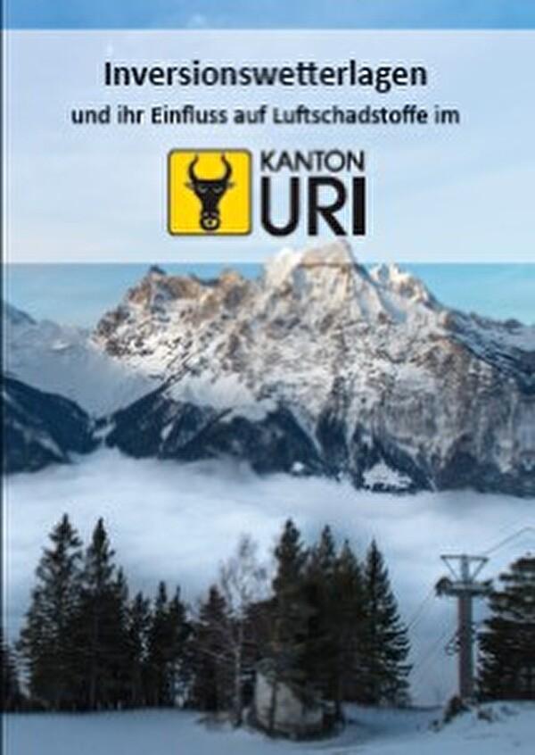 Titelblatt der Broschüre Inversionswetterlagen