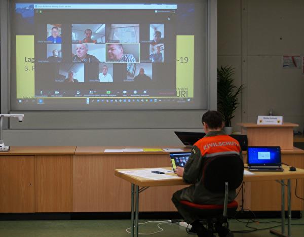 Videokonferenz des Kantonalen Führungsstabs