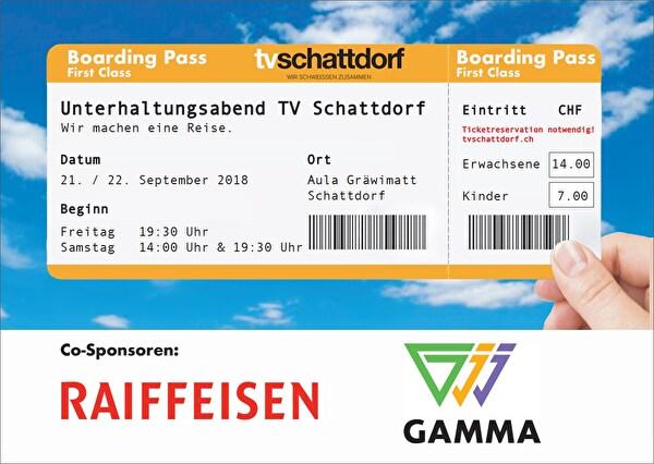 Unterhaltungsabend TV Schattdorf - Boarding Pass