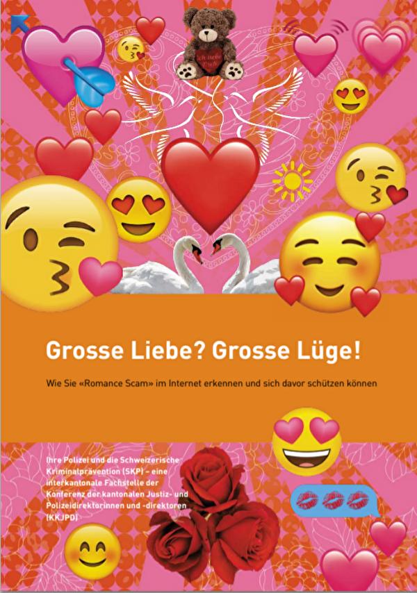 Broschüre Romance Scam
