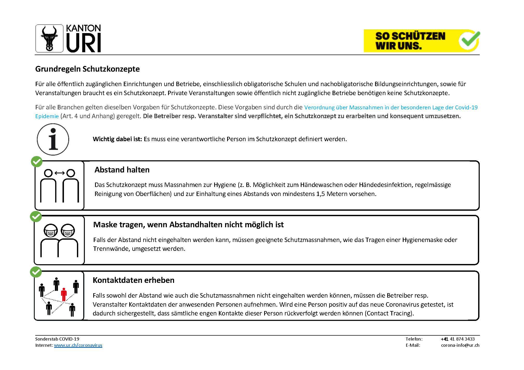 Grundregeln Schutzkonzepte_Sonderstab COVID-19