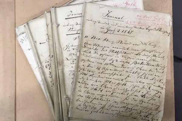 Journal von Walter Zelger über die Jahre 1847 bis 1850.