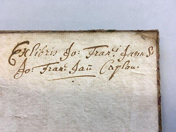Exlibris von Johann Franz Jann