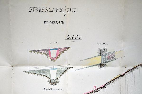 Plan Strassenprojekt Emmetten