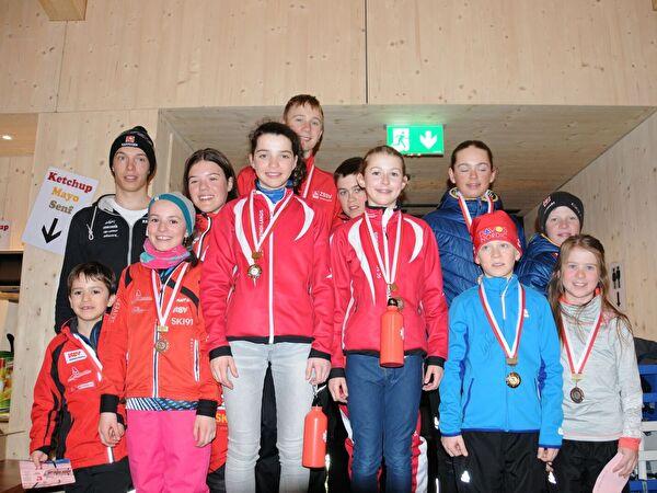 Podest Nidwaldner J+S Skicross Rennen 2017