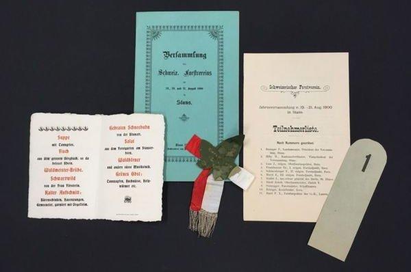 Dokumente zur Jahresversammlung des schweizerischen Forstvereins 1900.