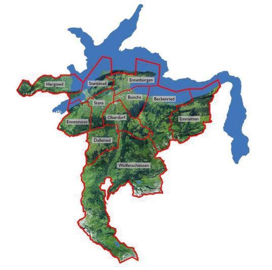 Karte der Gemeinden