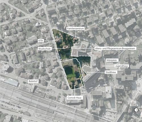 Privater Gestaltungsplan Wohnen am Stadtgarten - Übersichtsplan