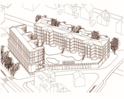 Privater Gestaltungsplan Bahnhofplatz - Visualisierung