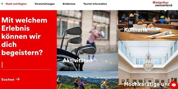 Website Winterthur Tourismus