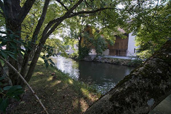 Stadtpark, Ansicht Untere Farb am Aabach
