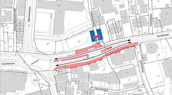 Situation-/Projektplan Florastrasse