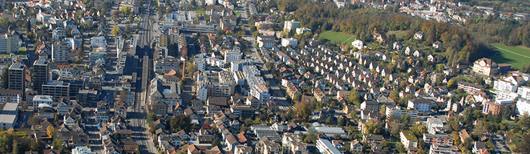 Luftbild Zentrum von Uster