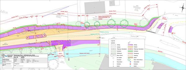 Situationsplan Projekt Rad-/Gehweg Aathalstrasse