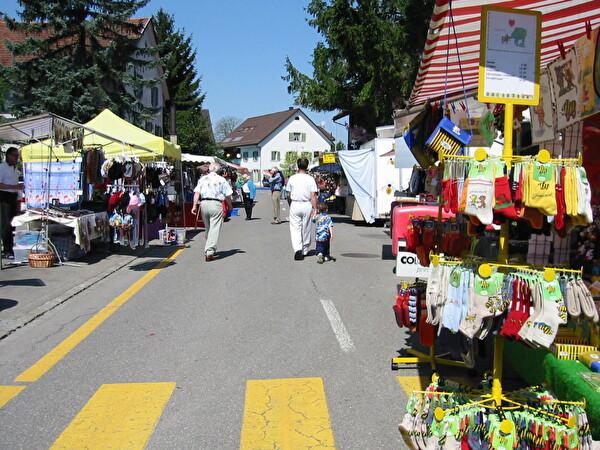 Blick auf einen früheren Mai-Markt in der Stationsstrasse