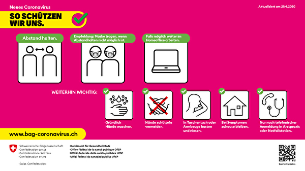 Aktuelles Coronavirus-Plakat (magenta)