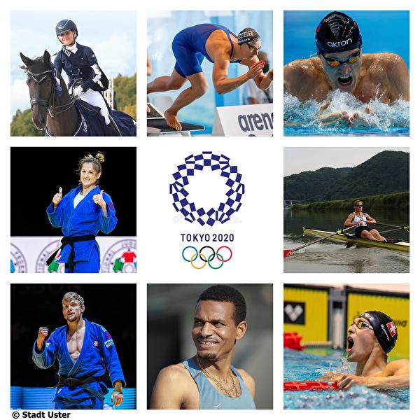 Sportlerinnen und Sportler aus Uster