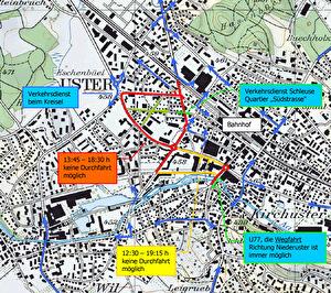 Plan Verkehrsumleitung