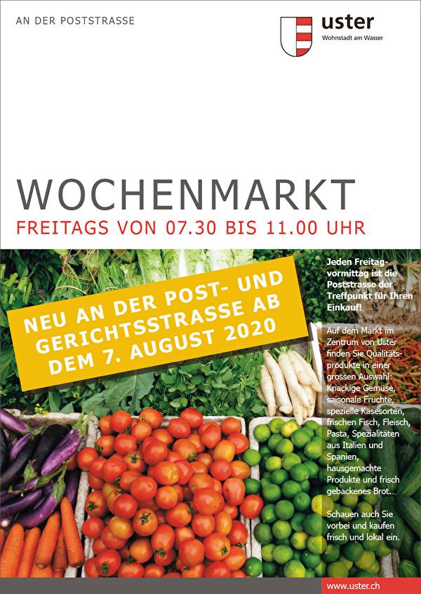 Plakat Wochenmarkt 7. August