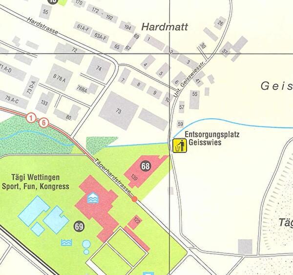 Planausschnitt mit eingezeichnetem Standort