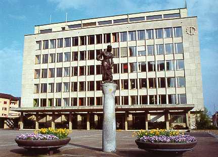 Ansicht des Wettinger Rathauses