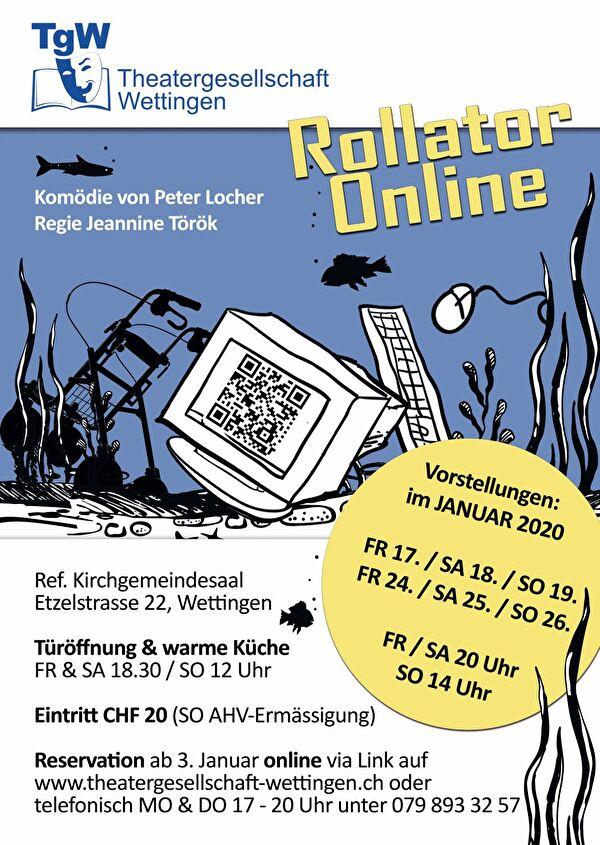 Flyer-Titelbild Rollator Online