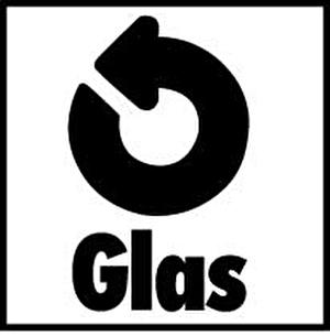 Monogramm für recycliertes Altglas