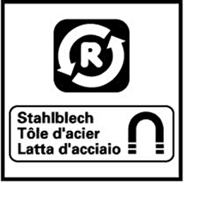 Monogramm für Weissblech