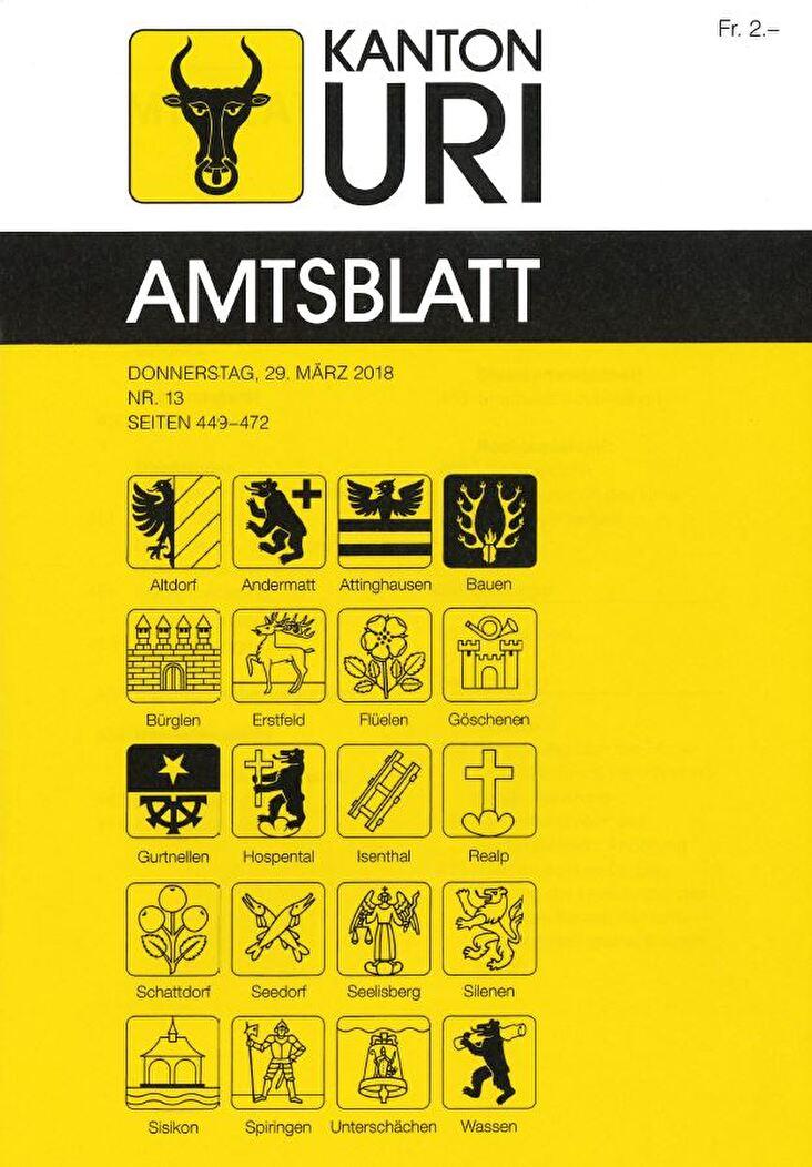 Amtsblatt Kanton Uri
