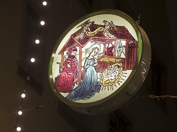 Weihnachtsbeleuchtung in Altdorf