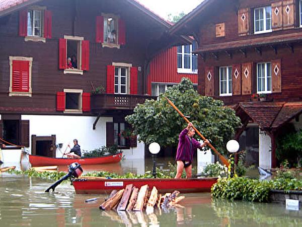 Hochwasser 2005, Bahnhofstrasse