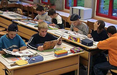 Schüler beim Arbeiten