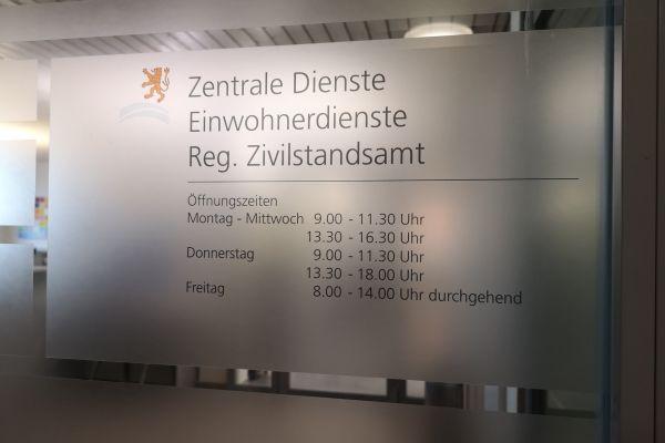 Eingang Zentrale Dienste