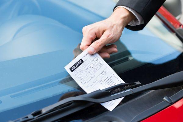 Strafzettel beim Auto