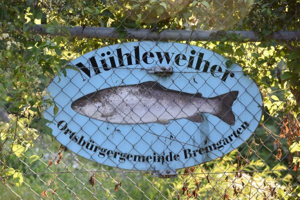 Schild Mühleweiher