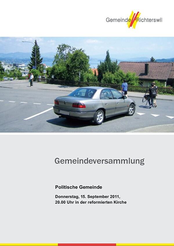 Gemeindeversammlung vom 15. September 2011