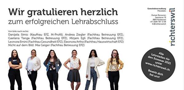 Abschlusslernende Gemeinde Richterswil