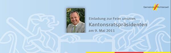 Einladung Feier Kantonsratspräsident