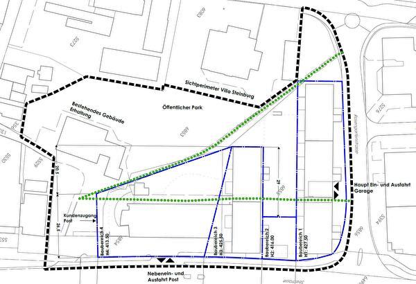 Situationsplan Gestaltungsplan Steinburg-Post