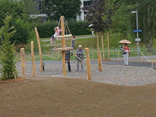 Spielplatz der neuen Kindergärten Häberlimatte