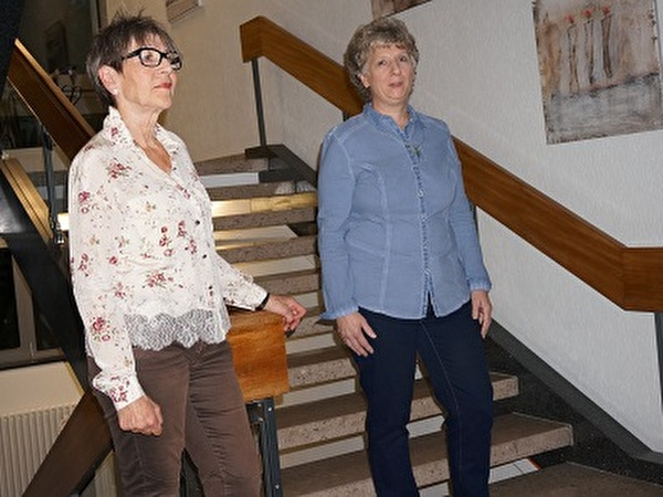 Die Künstlerinnen Ruth Flückiger und Barbara Schoch
