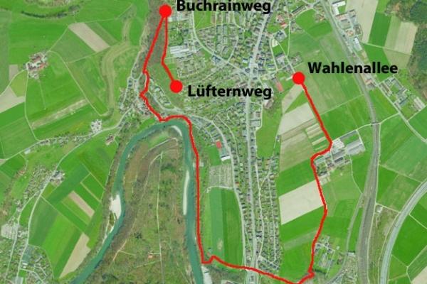 Karte Landschaftsweg