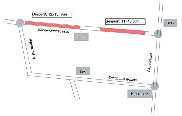 Kirchlindachstrasse Sperrung