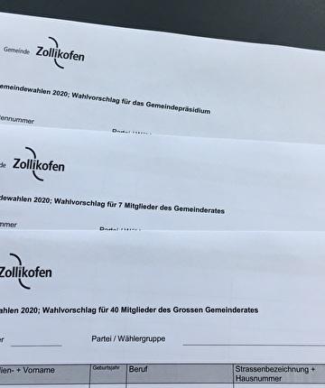 Wahlvorschläge Gemeindewahlen 2020