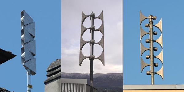 Drei Sirenentypen